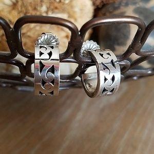 Lois Hill Sterling silver hoop earrings